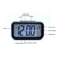 LCD Digital Clock/Jam Meja/Alarm/Tgl/Temperatur