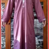 Terbaru Baju Gamis Kancing laki Maroon Size M - Plus Bordir