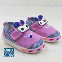 Sepatu Anak Import 8 Bulan-2 Tahun PINK Bunyi Toet-Toet bagus SKU-