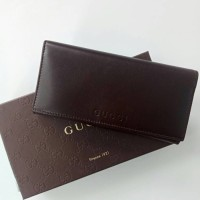 Dompet Wallet Wanita Cewek Gucci Dark Brown Authentic Original