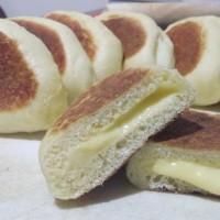 Un-oven Bread (Roti tanpa oven berisikan Krim manis)