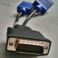 Kabel VGA DMS59 Male to 2VGA Female Original Dell