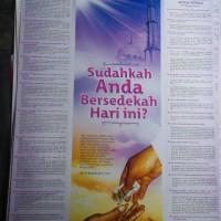 Poster Sudahkah Anda Bersedekah Hari Ini