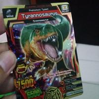 Kartu animal kaiser tyrannosaurus ULTRA RARE GOLD CARD