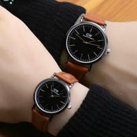jam tangan couple Dw / jtr 1144 coklat