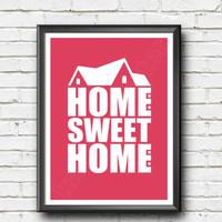 wall quotes kata bijak motivasi: home sweet home