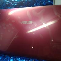 Frame case atas laptop Asus K43E pink