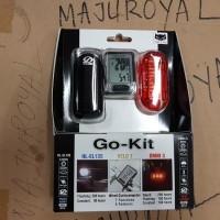 Speedo Meter Lampu Depan Belakang Cateye Go Kit Paket 3 Murah
