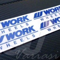 AKSESORIS MOBIL Sticker Decal Velg Work Wheels BANDUNG