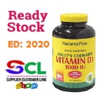 Natures Plus Vitamin D3 1000iU / Vitamin D 3 1000 iU isi 180 softgels