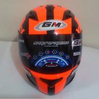 HELM GM RACE PRO ZR650 DARK SINGLE VISOR ORANGE BLACK