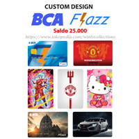 Kartu Emoney BCA Flazz Custom Design 1 sisi (Saldo 25 ribu)