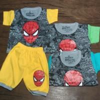Baju anak setelan / baju tidur anak / Character Spiderman 1025