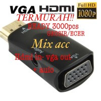 Converter HDMI to VGA with Port Audio - Full HD 1080p (Hitam & Putih)