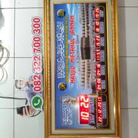 jam masjid waktu sholat digital +waktu adzan, tanpa running text wifi