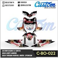C35 DECAL BEAT dekal motor rockstart hoonigan black white modifikasi S