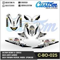 C41 DECAL BEAT dekal motor juventus modifikasi STICKER MOTOR FULL BODY