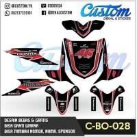 C25 DECAL BEAT dekal motor 46 hitam modifikasi fi STICKER MOTOR FULL B