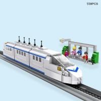 558PCS COGO City Train Vehicle 3D Building Brick Blocks Toys