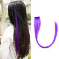 Strike Highlight Hair Clip Purple Hair Extension Klip Rambut Sambung