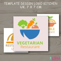 Label Produk / Sticker Stiker Nama / Label KITCHEN RESTAURANT MAKANAN