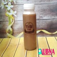 Jual label logo COFFE TEA THAI TEA murah transparan waterproof botol 250ML Murah