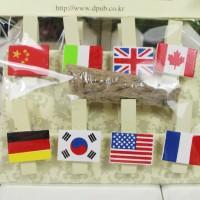 klip kertas foto motif bendera Flag series clip photoskl014 T3010