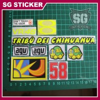 Sticker / Stiker Visor Kaca Helm Rossi (1 Set) Bonus stiker VR46
