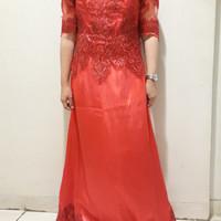 Sewa Gaun Pesta mama pengantin merah