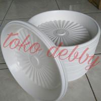 Tatakan Piring Pot Tanaman dan Bunga 22 cm Putih