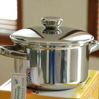 Panci Stainless TEBAL Bima 22 masak rebus mangkok sayur soup sop