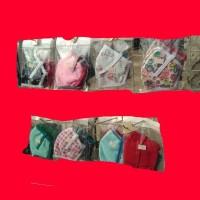masker kain polos dan motif 12 pacs