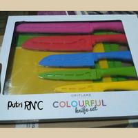 Colourful Knife set Oriflame [pisau dapur]