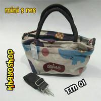 Jual tas kanvas thailand bangkok / tas wanita slempang jinjing / gajah owl Murah