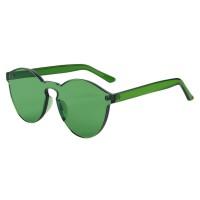 A39 Kacamata Sunglasses Flat Candy Color Sunnies 2018 - Green