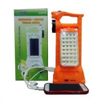 VDR Senter   Lampu Emergency   Power Bank Tenaga Surya V 977S T3010