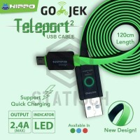 Hippo Teleport Versi 2 Micro USB 120 Cm Kabel Data Charger Samsung dll