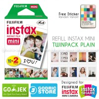 Fujifilm Refill Instax Mini Film Twinpack Plain - 20 Lembar