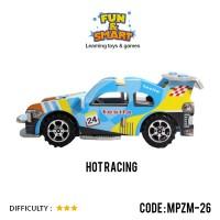 Puzzle 3D Paper Foam Mainan Edukasi Hot Race