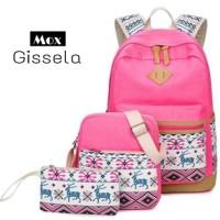 Harga pusat grosir tas ransel sekolah anak sd batik gisel 3in1 murah | Pembandingharga.com
