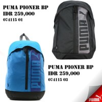 tas ransel backpack puma pioner bp black and blue original 100% NEW