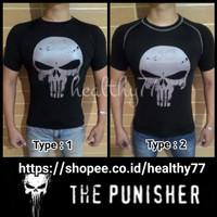 Kaos Ketat Under Armour - The Punisher Black&White