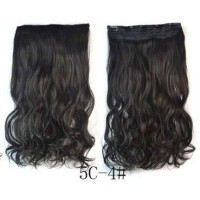 Hair Extension Clip Wig Rambut Palsu 4A Hitam MURAH