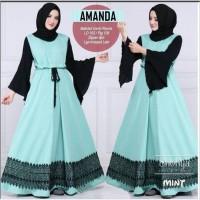 #Dress#Syari#Hijab#Muslim#Wanita# amanda dress/baju online/baju