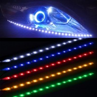 LED Strip Lampu Depan Mobil Waterproof 5W 15SMD 30CM
