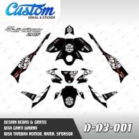 433 Dekal Stiker Motor New Vixion Advance 2015 D-D3-001 Decal Sticker