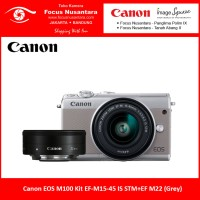 Canon EOS M100 Kit EF-M 15-45mm IS STM + EF-M 22mm (Grey)