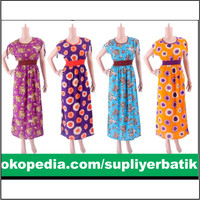Dress Batik Bali Grosir Murah Dress Isabel Kombi Panjang