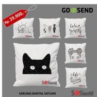 Sarung Bantal Sofa kursi mobil Motif Custom L minimalis murah cushion