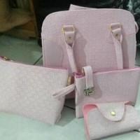 Tas Wanita Terbaru / Tas Import / Tas Batam handbag fashion set 3 in 1